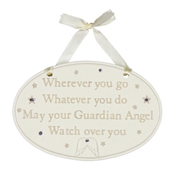 Bambino Resin Hanging Plaque Wherever you go Whatever you do
