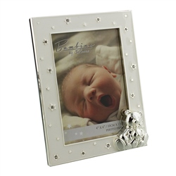"Bambino Silver Plated Frame Teddy & Baby 4"" x 6"""