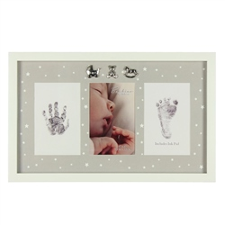 Bambino MDF Photo Frame Hand/Foot Print & Ink Pad