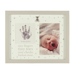 Bambino MDF Photo Frame Tiny Fingers & Ink Pad