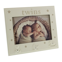 "Bambino Photo Frame 5"" x 3.5"" Twins"