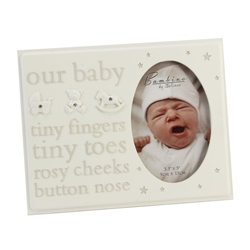 "Bambino Resin Photo Frame 3.5"" x 5""  ""Our Baby"""