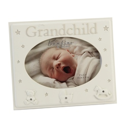 "Bambino Resin Photo Frame 5"" x 3""  ""Grandchild"""