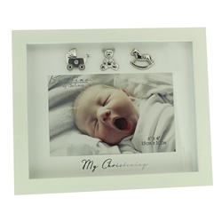 "Bambino Cream MDF Photo Frame  ""My Christening"" - 6"" x 4"""