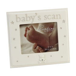 "Bambino Resin Photo Frame 4"" x 3"" "" Baby's Scan """