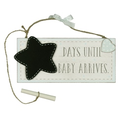 Bambino 'Petit Cheri' MDF Chalkboard 'Waiting For Baby' - Blue
