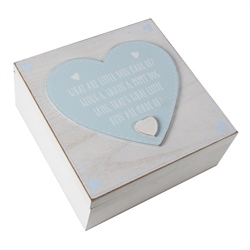 Bambino 'Petit Cheri' Keepsake Box - 'What Little Boys Are Made Of'