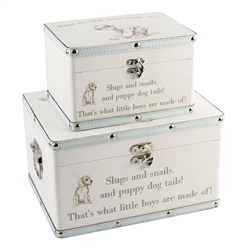 "Bambino Luggage series - Set of 2 Boxes - ""Little Boys"""