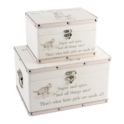 "Bambino Luggage series - Set of 2 Boxes - ""Little Girls"""