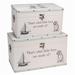 "Bambino Luggage series - Set of 2 Storage Boxes - ""Little Boys"""