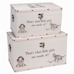 "Bambino Luggage series - Set of 2 Storage Boxes - ""Little Girls"""