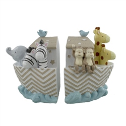 Bambino Noah's Ark Resin Set of 2 Bookends