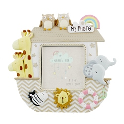 "Bambino Noah's Ark Resin Photo Frame 3"" x 3"""