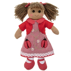 Powell Craft Medium Rag Doll Ladybird Dress