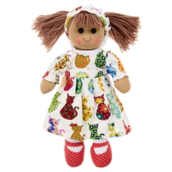 Powell Craft Medium Rag Doll Cat Print Dress