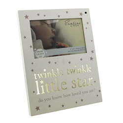 Bambino 'Light Up' MDF Photo Frame 'Twinkle Twinkle'