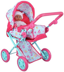 Dolls World Deluxe Dolls Pram & Baby Carrier