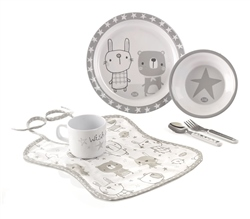 Jane Microwave Crockery Set, 6 piece, Stars