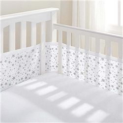 Breathable Baby 4 Sided Mesh Cot Liner