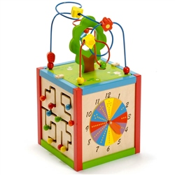 East Coast Rest and Play Wooden Activity Cube