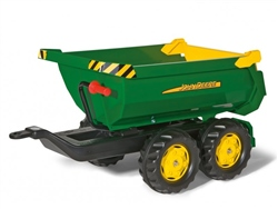 Rolly Toys John Deere Half Pipe Trailer for Child's Tractor