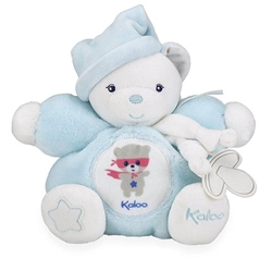 Kaloo Chubby Bear Medium Aqua 18cm