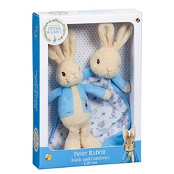 Beatrix Potter Rattle and Comfort Blanket Gift Set