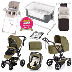 Jane Complete Nursery & Travel System Bundle, Woods