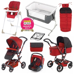 Jane Epic Nursery & Travel System Bundle, Red