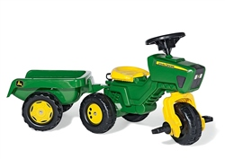 Rolly Toys John Deere Trio Tractor and Trailer