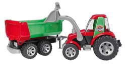 Bruder Roadmax Tractor with Front Loader & Rear Tipper