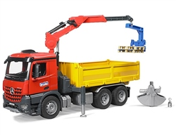Bruder Mercedes Arocs Construction truck with crane & accessories