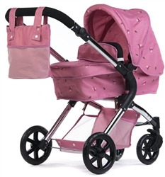 Roma Darcie Single Dolls Pram Pink