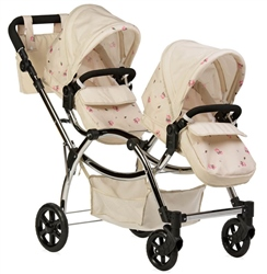 Roma Darcie Twin Dolls Pram Cream
