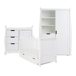 OBaby Stamford Classic 3 Piece Room Set White