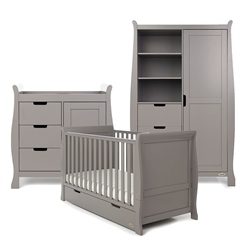 OBaby Stamford Classic 3 Piece Room Set Taupe