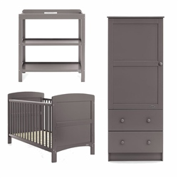OBaby Grace 3 Piece Room Set Taupe