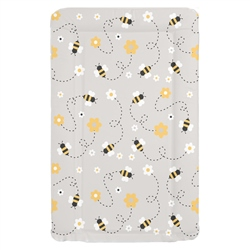Mollydoo Baby Grey Bee Changing Mat