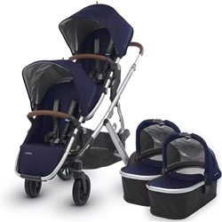 Uppababy Vista Twin Pushchair & 2 Carrycots