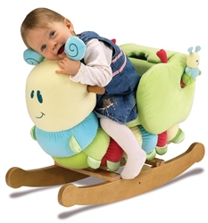 Little Bird Told Me Curious Caterpillar Infant Rocker