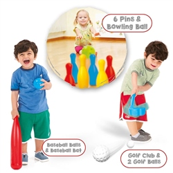 Dolu 3-in-1 Child's Sports Set