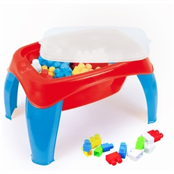 Dolu Activity Table With 42pcs Big Blocks