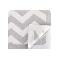 Shnuggle Knitted Cotton Blanket - Chevron