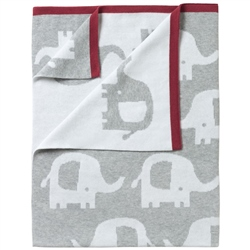 Clair De Lune Eli the Elephant Reversible Blanket