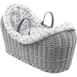 Clair De Lune Sparkling Muslin Willow Bassinet