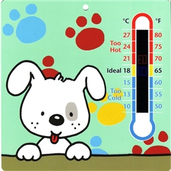 Clippasafe Nursery Thermometer Dog Plaque