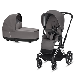 Cybex Priam Pram inc Lux Carrycot - Chrome Complete Pram Set