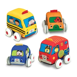 Melissa & Doug  Pull Back Town Vehicles