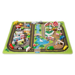Melissa & Doug Deluxe Road Play Set