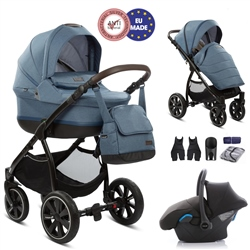 Noordi Sole 3in1 + Car Seat - Denim